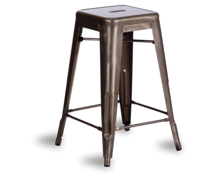 tolix bar stool galvanised deep gold