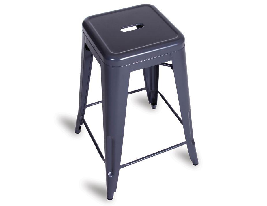 charcoal xavier pauchard tolix stool replica 65cm. Black Bedroom Furniture Sets. Home Design Ideas
