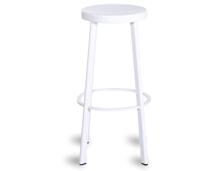Deja Vu Bar Stool White 75cm Replica Magis