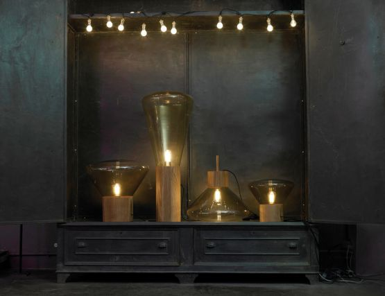 Smoke Grey Glass Floor Lamp By Brokis