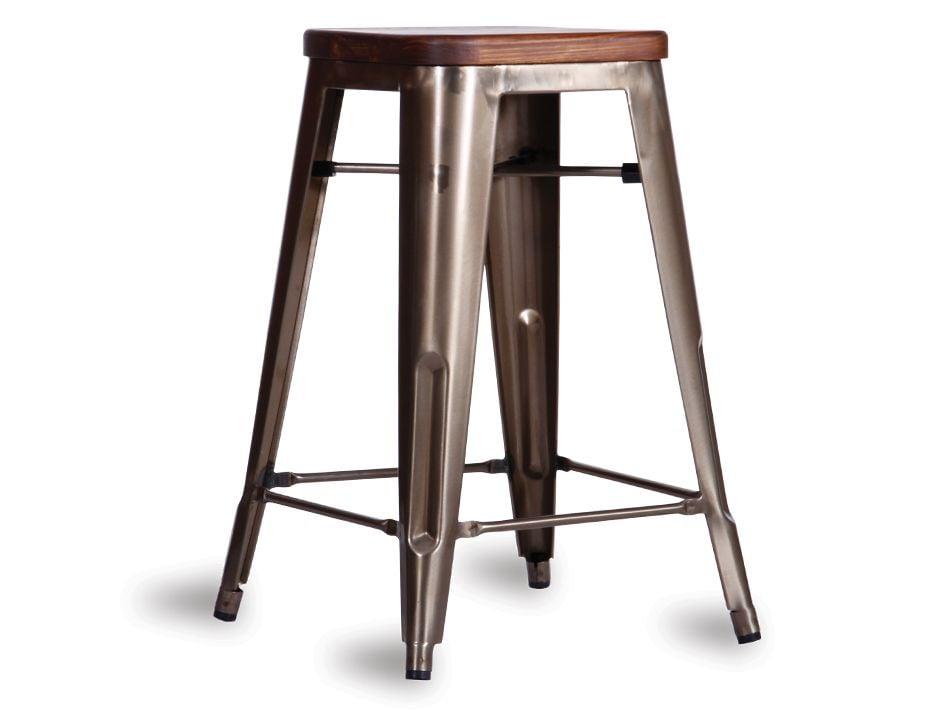 Dark Stained Solid Teak Tolix Bar Stool : rustic tolix bar stool from www.relaxhouse.com.au size 925 x 713 jpeg 43kB