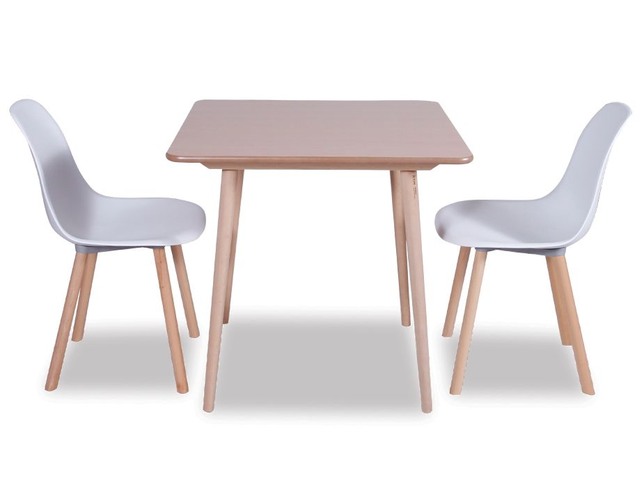 White Canndall With Ironica Table Natural