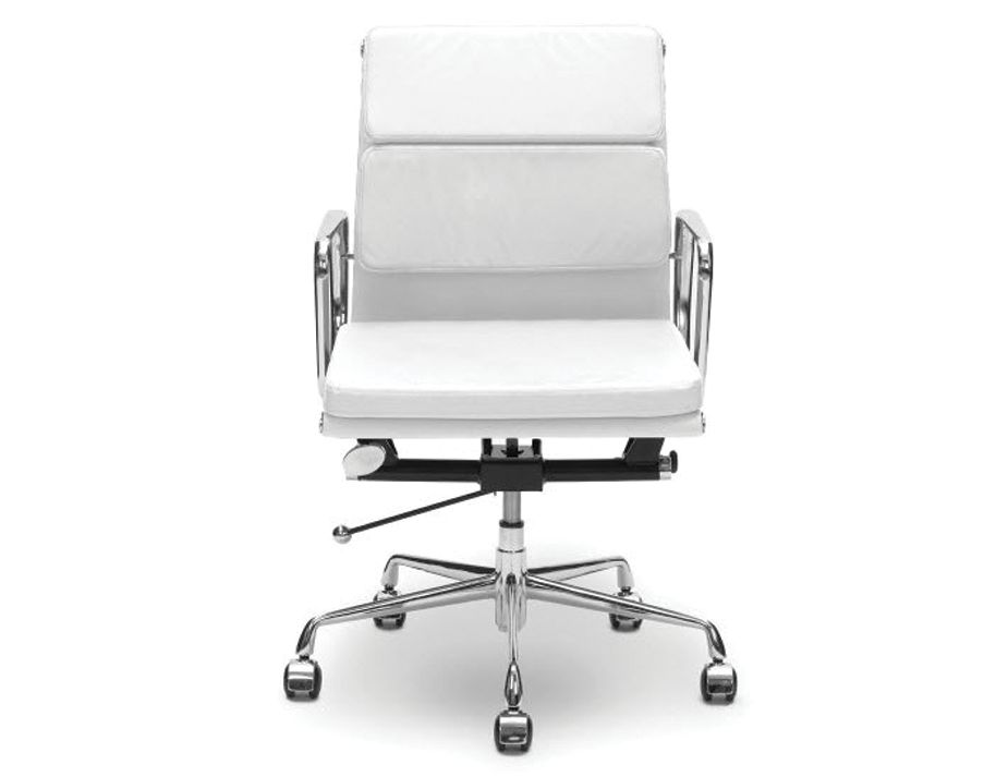 replica eames soft pad low back office chair white leather