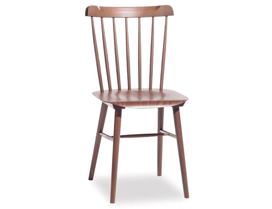 Walnut Ironica Beechwood Dining Chair By Ton
