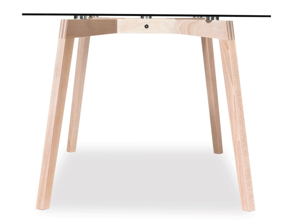 White Wash Wood Dining Table: Similda Whitewash Solid Wood Glass Dining Table