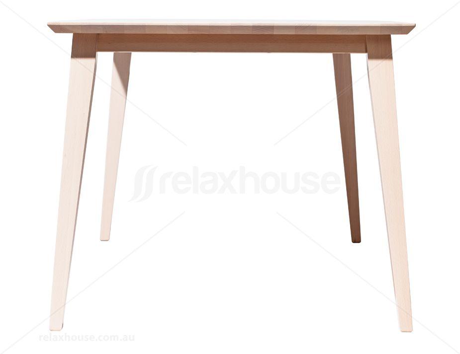 jutland whitewash solid wood danish dining table by ton