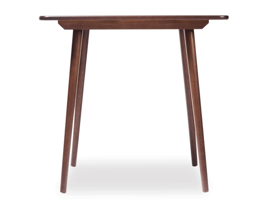 Walnut small square wood dining table by ton