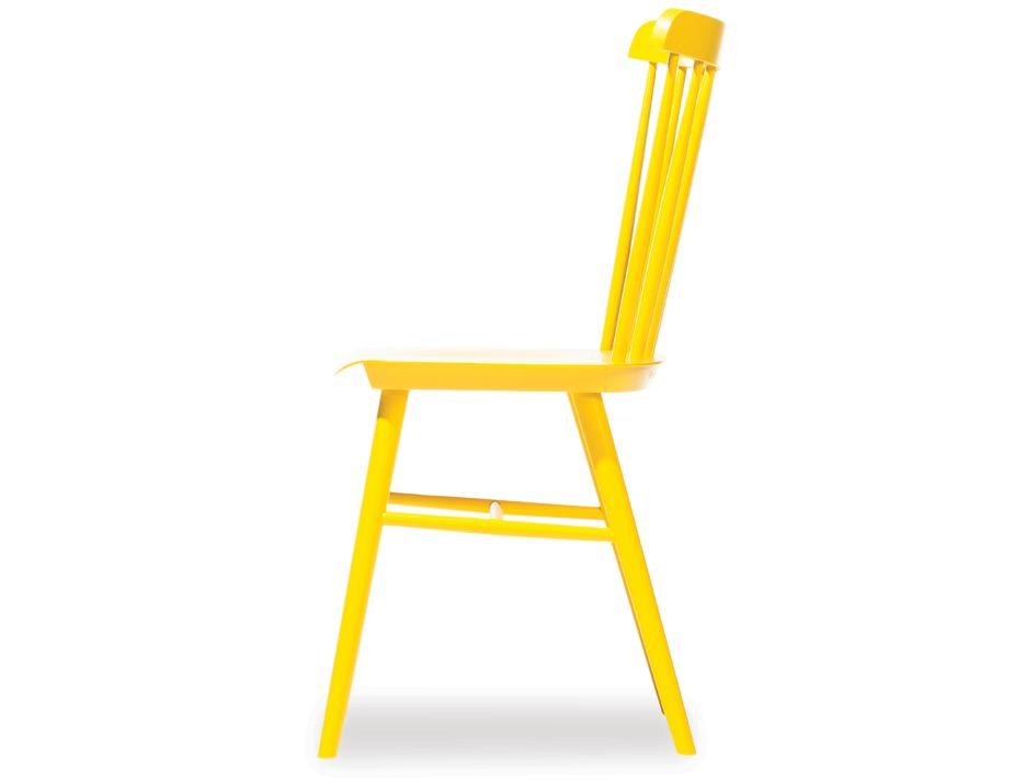 Original ironica beechwood dining chair yellow ton cz