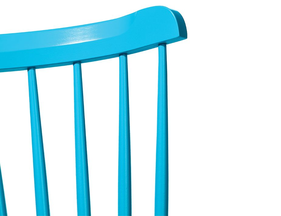 Ironica Aqua Blue Spindle Back Dining Chair