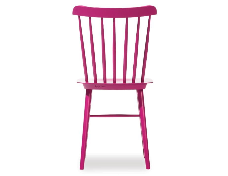 Pink Ironica Beechwood Spindle Dining Chair By Ton