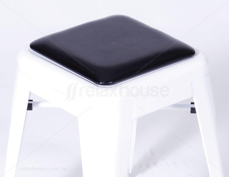 Tolix Bar Stool Cusion Seat Pad Black
