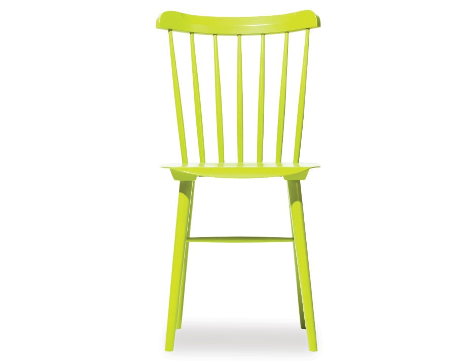 Lime Green Ironica Timber Dining Chair By Ton