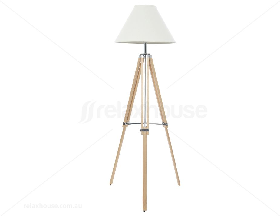 Coast Oak Floor Tripod Lamp Wood