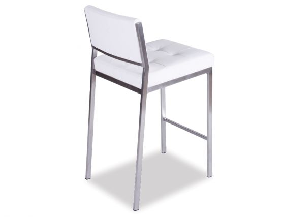 White Padded Kitchen Stool