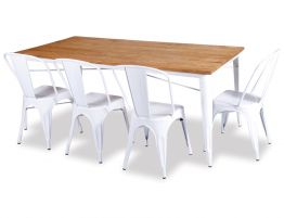 White Tolix Chair White Tolix Table