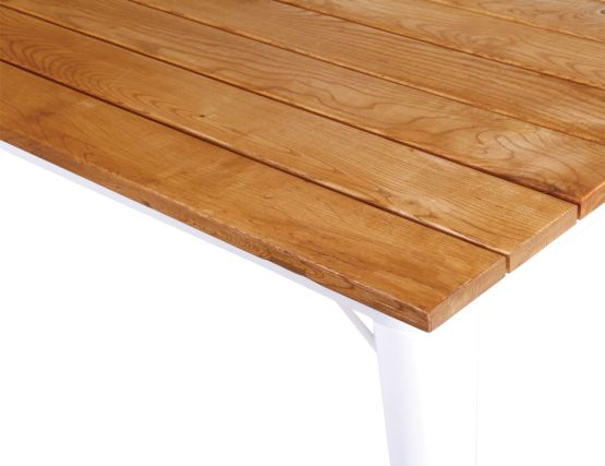 White Wood Tolix Table