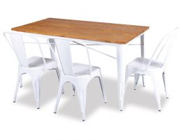 White Awesome Tolix Table