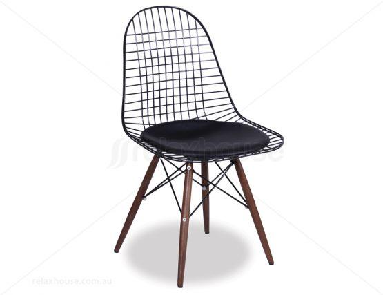 eames dkr wire side chair replica black frame. Black Bedroom Furniture Sets. Home Design Ideas