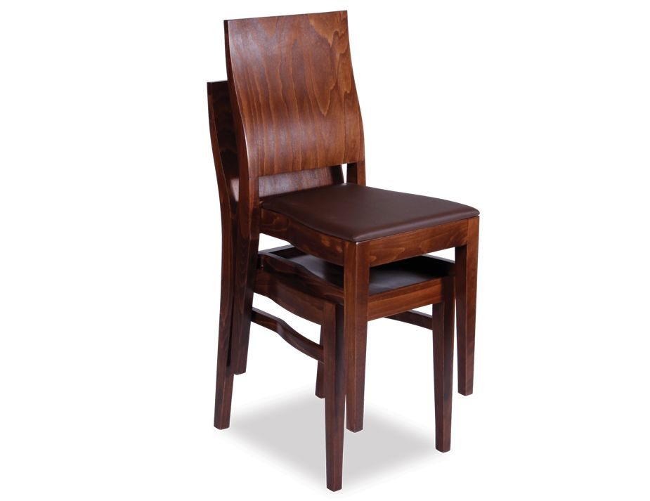 Stacking dining chair stackable pub style bistro dining for Stackable dining room chairs