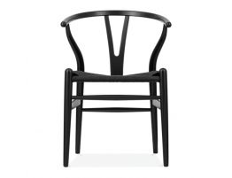 Wishbone Chair Black Black Pad