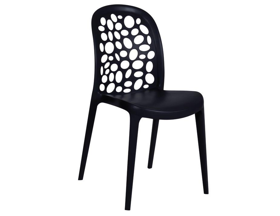 Simple black plastic moon chair Style - Elegant black plastic chairs Photo