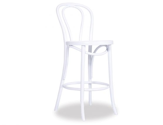 White Designer Thonet Stool