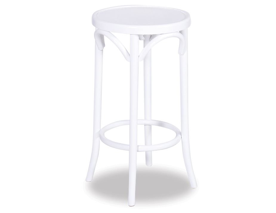 White 68cm Paris Bentwood Kitchen Stool By Michael Thonet