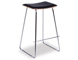 Yvonne-Y-Potter-Stool-Walnut-w-Black-Pad