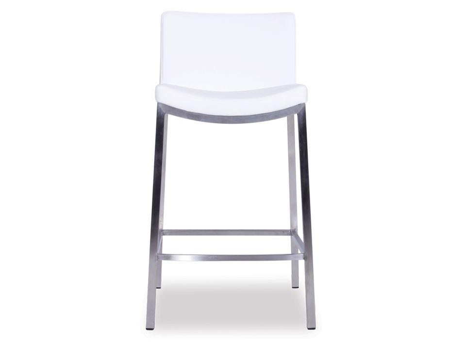 Vague fixed leg padded breakfast bar stool white