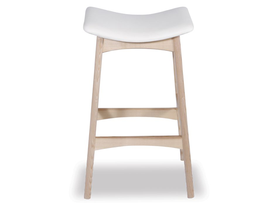 Wood Stool With Pad