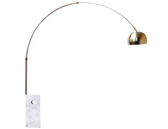 replica achille castiglioni arco floor lamp marble base