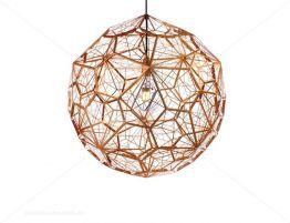 tom dixon etch light web copper pendant light replica