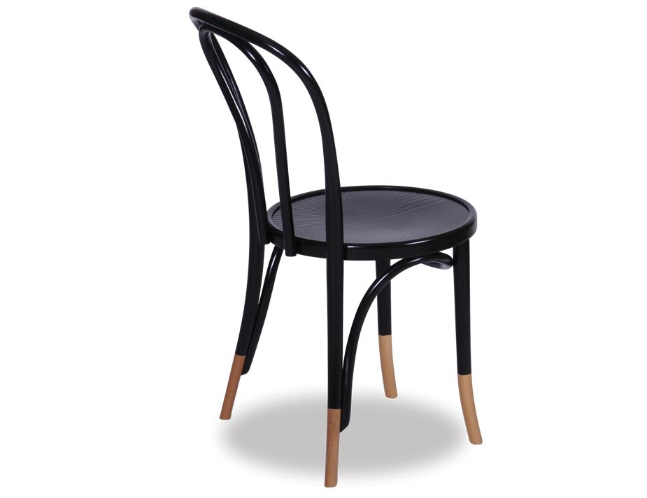 Black Thonet Vienna 18 Bentwood Chair W Natural Socks