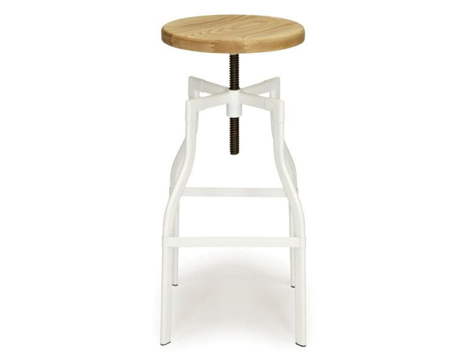 Adjustable Industrial Bar Stool with Wood Seat : Turner stool white bar height from www.relaxhouse.com.au size 925 x 713 jpeg 24kB