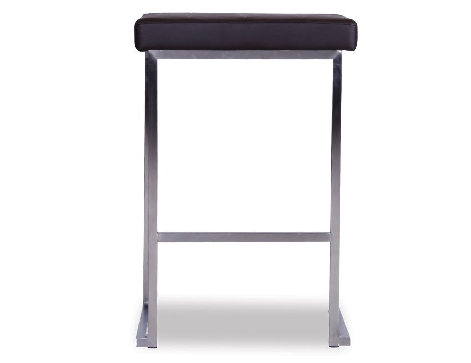 Chocolate Brushed Steel Counter Kitchen Stool