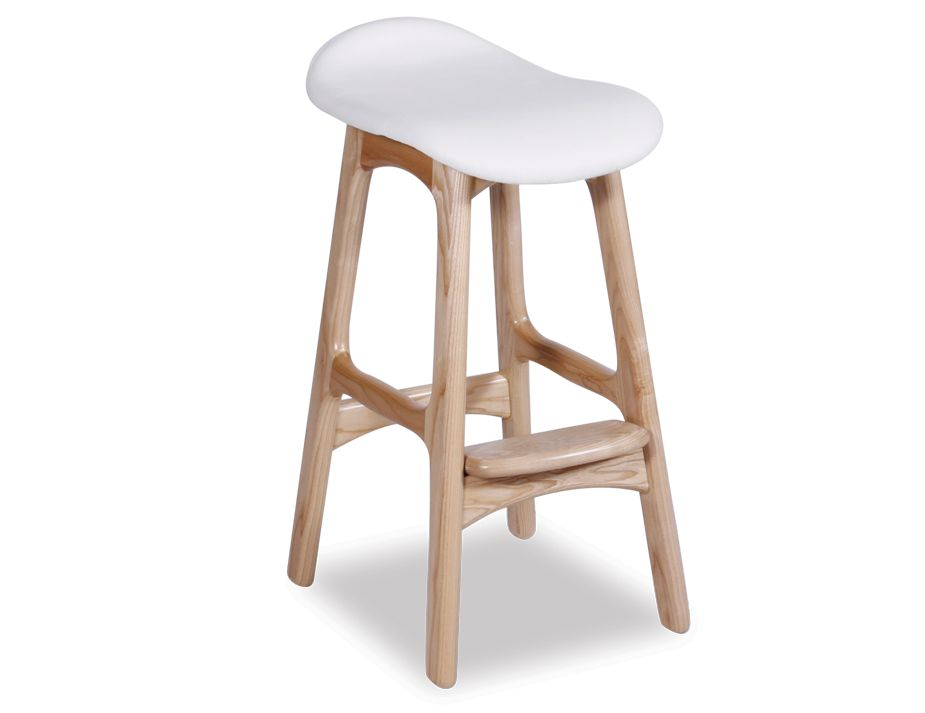 Erik Buch Counter Stool 66cm Black Italian Leather Pad : white wooden stool from www.relaxhouse.com.au size 925 x 713 jpeg 32kB