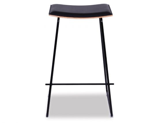 Yvonne Y Potter Stool Powdercoated Black W Black Pad
