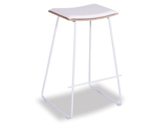 Yvonne Y Potter Stool Powdercoated White W White Pad
