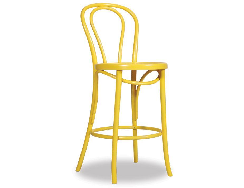 Original Vienna Yellow Bentwood Stool