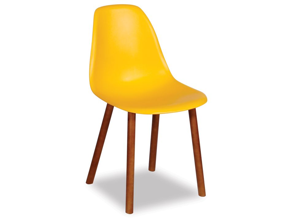 Bright Yellow Eames Style Chair