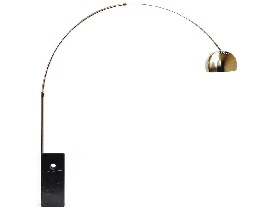 Black Marble Arco Floor Lamp