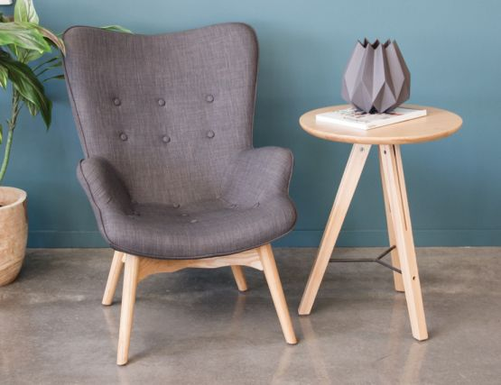 Basalt Chair Light Grey Fabric3
