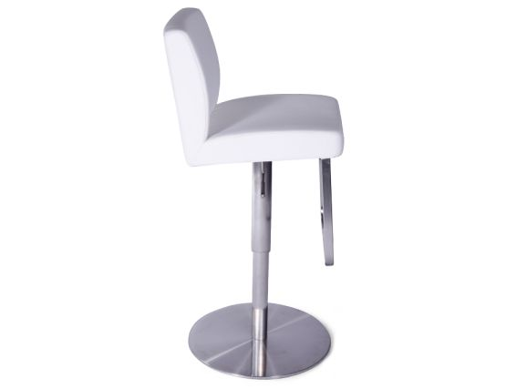 Kaz Steel Bar Stool White1