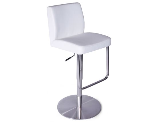 Kaz Steel Bar Stool White2