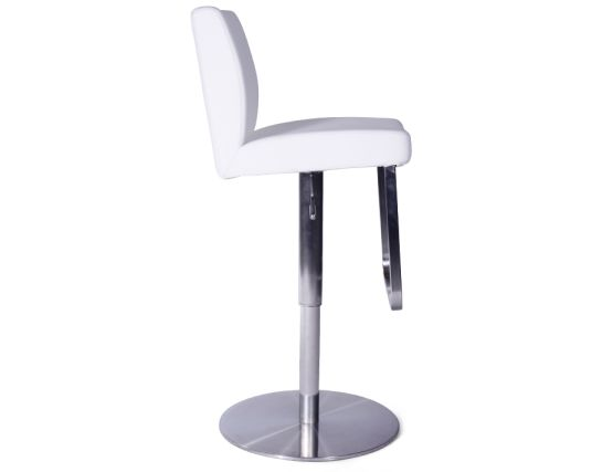 Kaz Steel Bar Stool White3