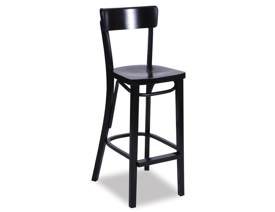 black bentwood bar stool