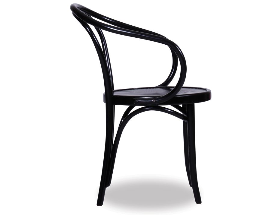 Black b9 le corbusier bentwood arm chair for Thonet replica chair
