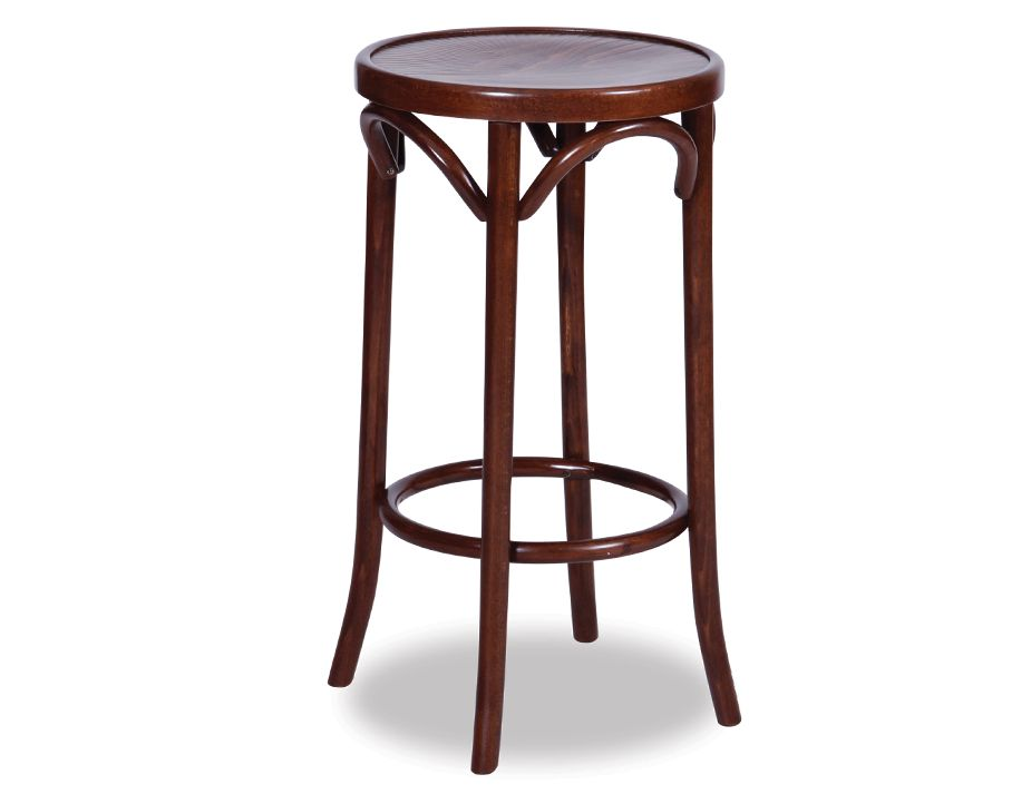 68cm Backless Bentwood Stools   Walnut