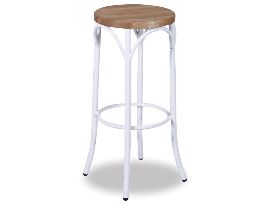 White Bentwood Steel Bar Stool Wood Seat : Paris Bentsteel With wood white 75cm from www.relaxhouse.com.au size 925 x 713 jpeg 26kB