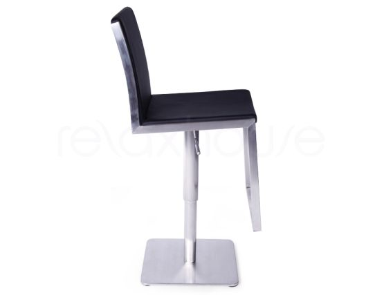 Brando Bar Stool Black Brushed Steel Bar Stool3